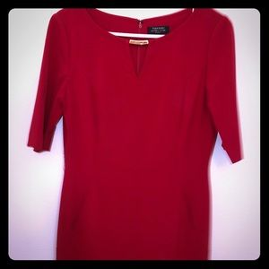 Business casual red dress